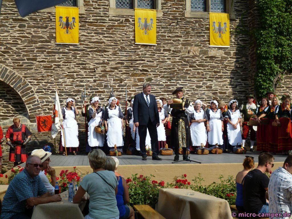 Begrüßung durch Marktvogt und Bürgermeister