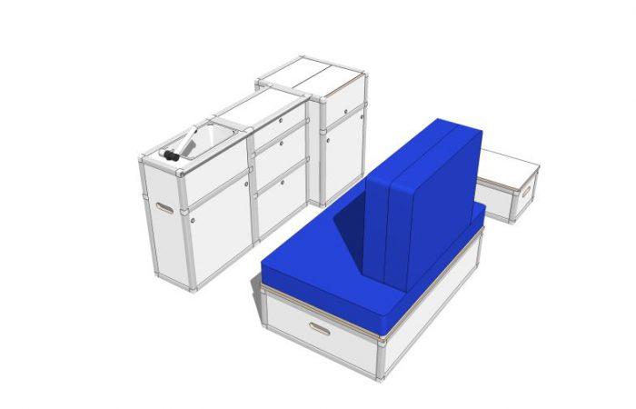 3D alle Module, Wohnposition