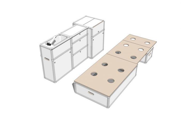 3D alle Module, Schlafposition, ohne Polster