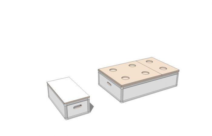 3D Bett- und Elektromodul