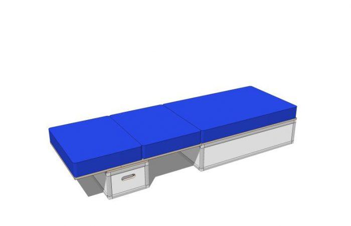 3D Bett mit Polstern