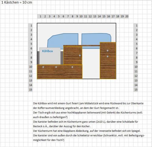 Aufriss erste Planung (Fahrerseite)