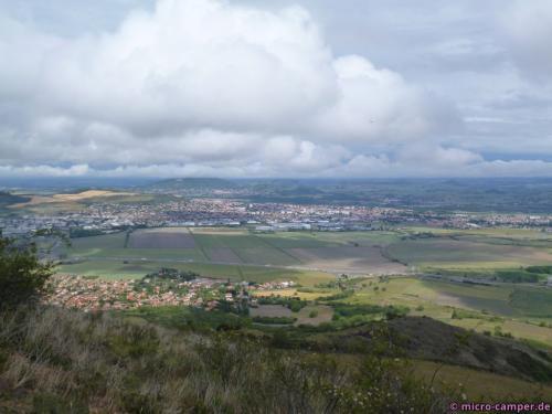Blick in die Ebene der Limagne (nach Osten)
