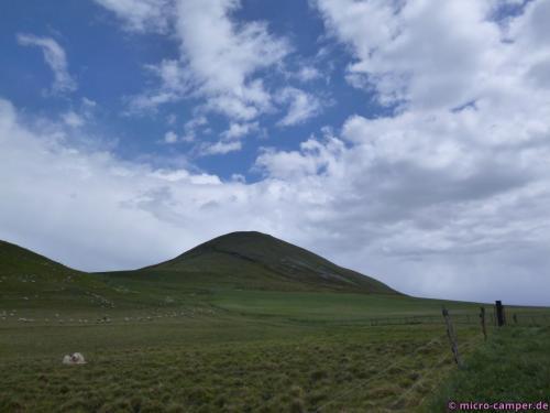 Das Foto habe ich nach dem Abstieg gemacht, vorher war die Spitze nicht mal zu sehen.