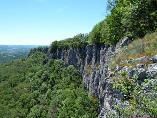 Die Basaltorgeln von Bort-les-Orgues, schade, dass man nicht näher ran kommt