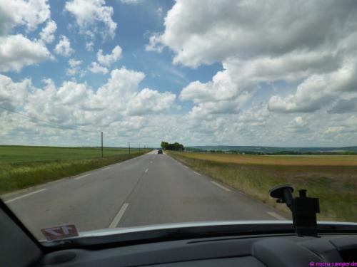 Weite Landschaften in Lothringen