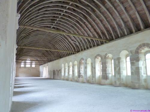 Das Dormitorium, der Schlafsaal der Mönche
