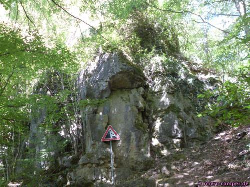 380 Mio. Jahre alte Steine können einem hier auf den Kopf fallen