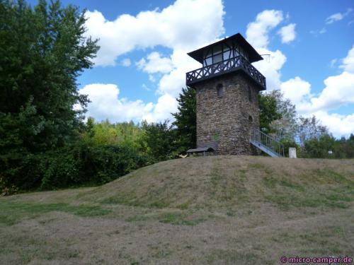 Der Limesturm in Rheinbrohl, dahinter lag das Land der Barbaren