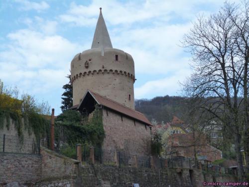"""Der """"Hexenturm"""", Teil der Stadtbefestigung"""