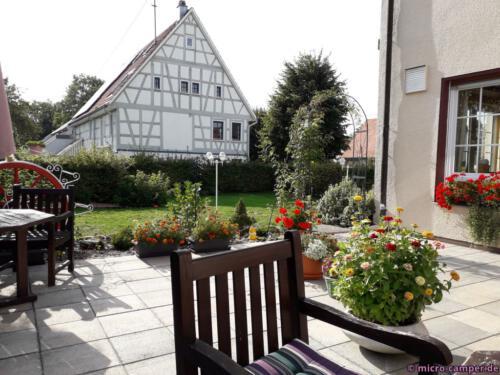 Im Café in Burgfelden