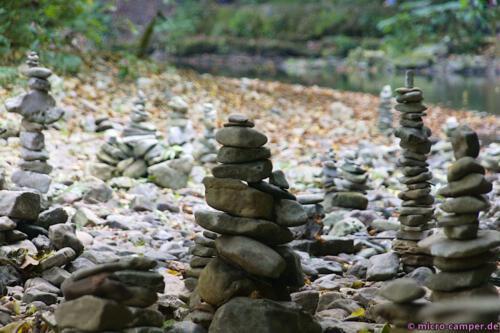 Aller Orten findet man diese Steinfiguren, sogenannte Inuksuks