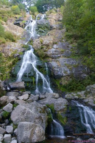 Die mittlere Stufe des Todtnauer Wasserfalls