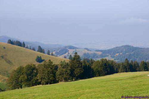 Wieder keine Chance, die Vogesen auf französischer Seite des Rheins zu sehen :-(