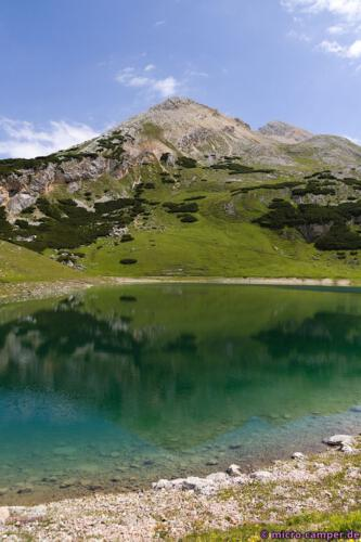 Am Lé de Limo, einer von mehreren wunderschönen Bergseen im Fànes-Gebiet