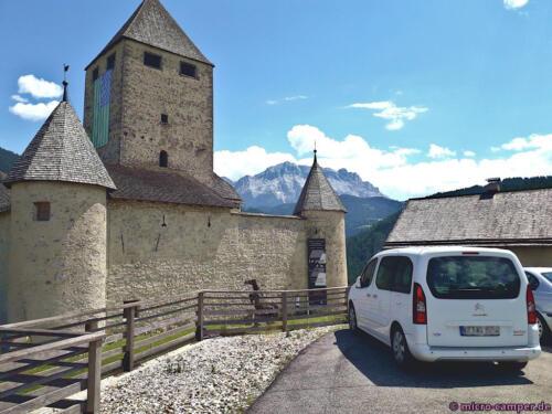Das ladinische Museum ist im Schloss von St. Martin in Thurn untergebracht